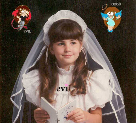 This is a picture of my first Holy Communion.